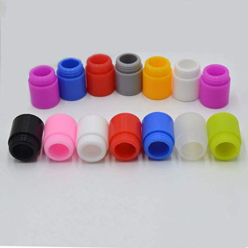 Sunday 7 810 Drip Test Tip soft silicone large diameter disposable anti-scalding tips individual package with mixed color Gift 60ml PET Gorilla empty bottles (20pcs)