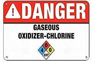 Warnschilder Chlor Aktivitäts Warnschild