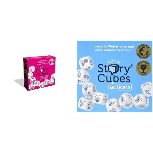 Unbekannt Hutter Trade 879844 - Rory's Story Cubes - Fantasia, Würfel & Hutter 603987 - Story Cubes Actions, Würfelspiel