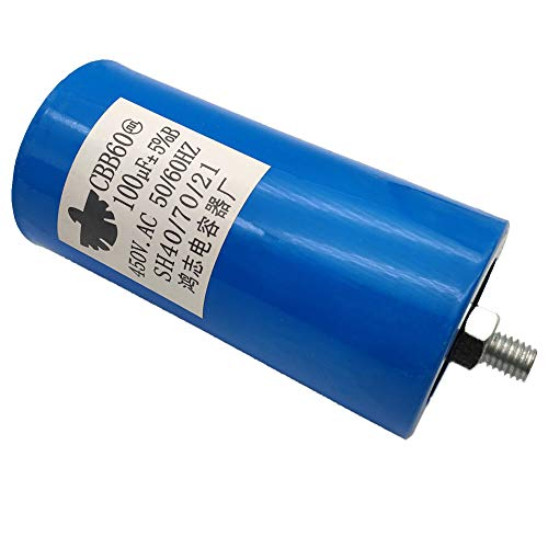 ALLMOST New CBB60 Run Capacitor 100uF 250VAC 250V AC 450V AC 50/60Hz Blue UL Listed W/Fixing Stud