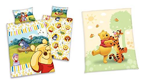 Coffret cadeau : Disney Winnie The Pooh 40 x 60 100 x 135 cm + Couverture polaire 130 x 160 cm