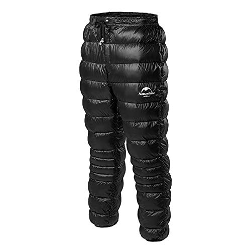 Naturehike Bajó Los Pantalones Pantalones Calientes de Invierno Pantalones de Nieve Compresibles Pantalones Deportivos de Camping (Negro M)