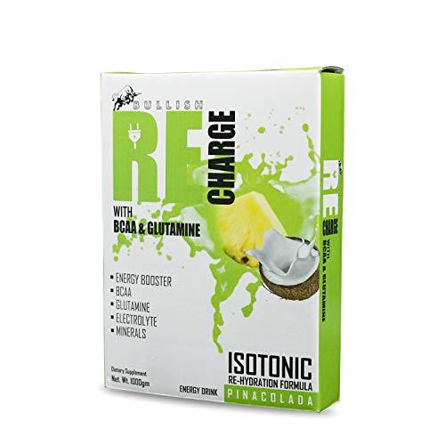 Bullish ReCharge, 1 kg, Pinacolada Flavor, ISOTONIC, Energy Booster Drink, 30 g Scoop, FSSAI Certified, 2.20 lbs