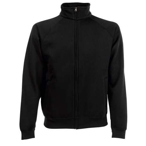 Fruit of the Loom - Sweatshirt à Fermeture zippée - Homme (2XL) (Noir)