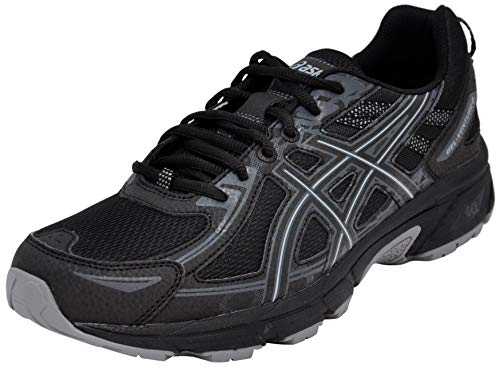 ASICS Men's Gel-Venture 6 Running Shoe, Black/Phantom/Mid Grey, 10.5 D(M) US