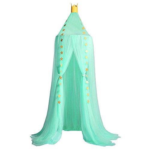Souarts Bedhemel Baldakijn Decoratieve hemel voor kinderkamers, vliegennet muggenbescherming voor kinderbedden chic gordijn 240 cm