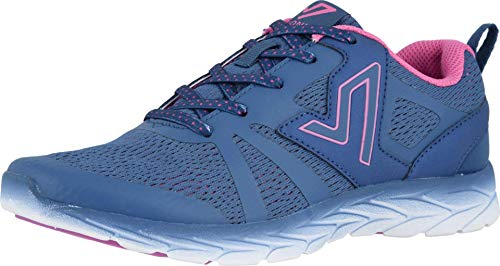 Vionic Women's Brisk Miles Lace-up Active Sneaker - Ladies Walking Sneakers with Concealed Orthotic Arch Support Indigo 11 Medium US
