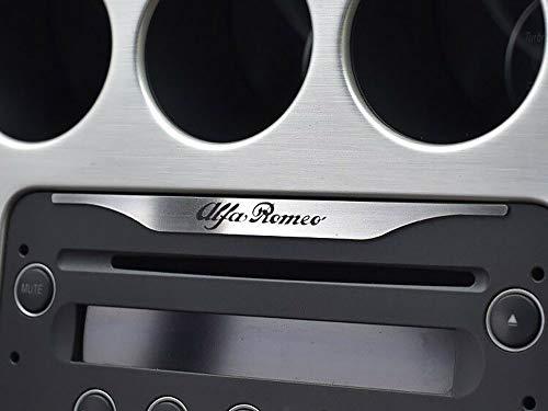 Interieur Stahlabdeckung für Alfa_Romeo 159 & BRERA & SPIDER (939) - 1 Stück Platte Emblem Zubehör Edelstahl Gebürstet Blenden Cockpit Dekor Mass Angefertigt