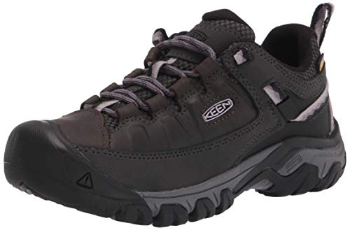 KEEN womens Targhee 3 Waterproof Hiking Shoe, Black/Thistle, 5.5 US