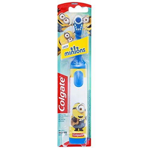 Colgate Minions, Cepillo de Dientes de batería suave para niños, limpieza profunda - 1 ud