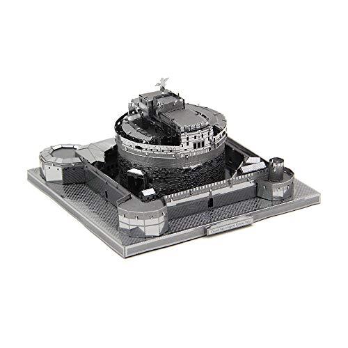 Microworld 3D Metall Puzzle Castel Sant'Angelo, 3D Bauwerke Puzzle Geschenk für Erwachsene und Kinder,Modellbau ganz ohne Kleber J007-S