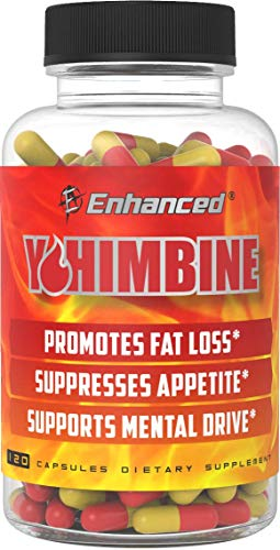 Enhanced Labs - Yohimbine Fat Shredding Accelerator for Men & Women - Fat Cutting Supplement to Promote Stubborn Fat Shredding (120 Capsules)