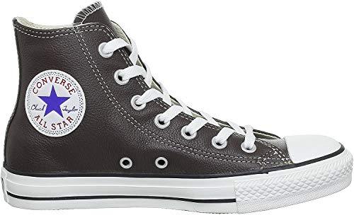 Converse Chucks Taylor All Star Hi Leder, Unisex - Erwachsene Sneaker, Braun (Chocolate), 37 EU