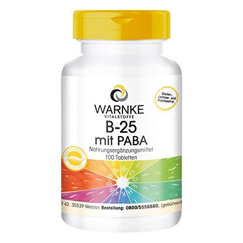 Vitamin B Complex – Complejo de Vitaminas del grupo B + PABA (Ácido para – aminobenzoico) – Vegano y altamente dosificado – 100 comprimidos
