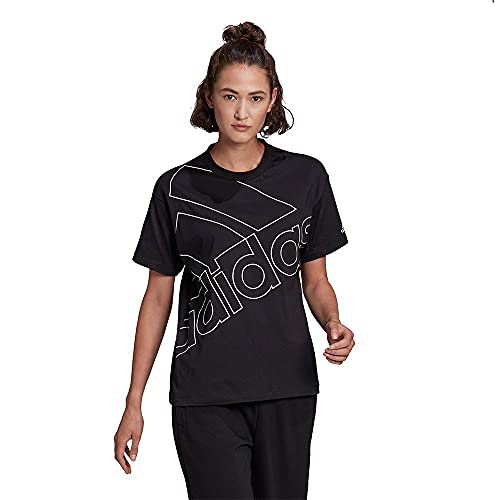 adidas Damen W Fav Q1 T Shirt, Schwarz/Weiß, M EU