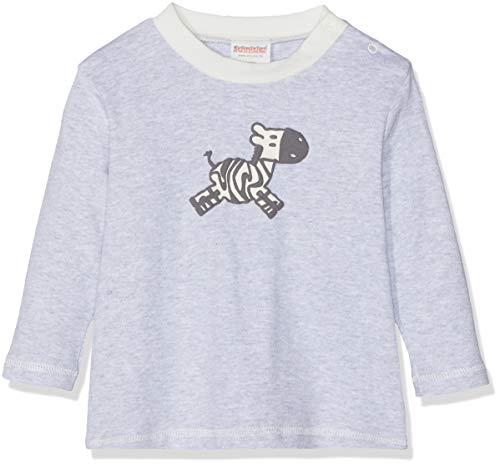 Schnizler Baby-Mädchen Sweat-Shirt Interlock Zebra Langarmshirt, Grau (Grau/Melange 37), (Herstellergröße: 86)