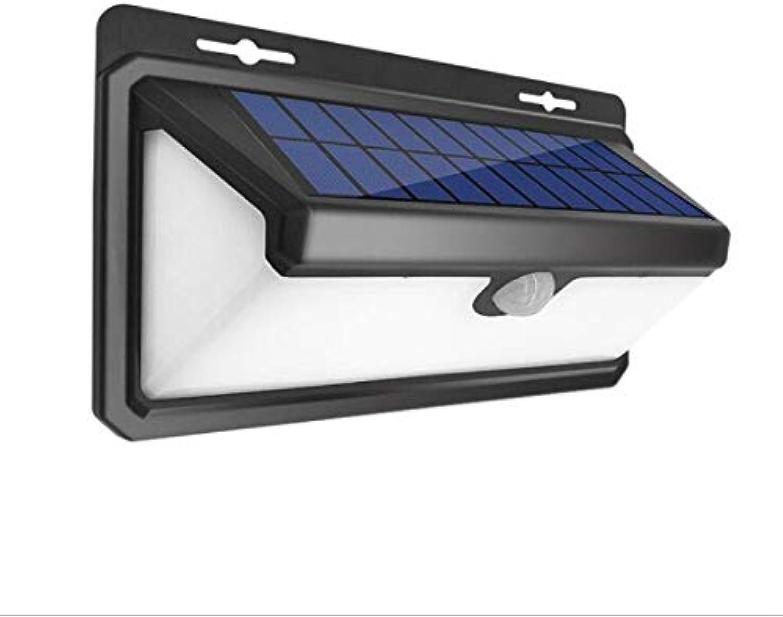 ZYJ Dreiseitig leuchtende Solar-Wandleuchte, Multifunktionsschalter, energiesparend mit Lichtsteuerung mit menschlicher Krperinduktion