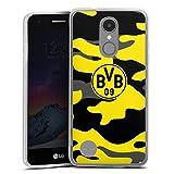 DeinDesign Silikon Hülle kompatibel mit LG K4 2017 Hülle transparent Handyhülle BVB Borussia Dortm& Fanartikel