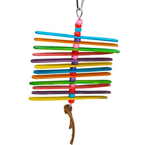 Bonka Bird Toys 868 Mini Stick Natural Chew Colorful Parrot Parrotlet Cockatiel Cockatoo Budgie