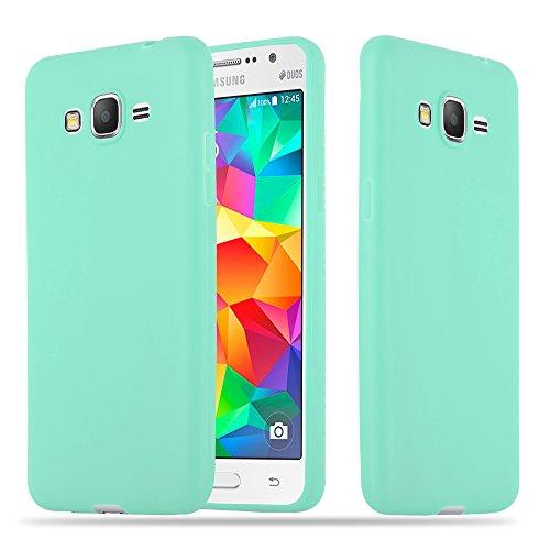 Cadorabo Funda para Samsung Galaxy Grand Prime en Candy Azul – Cubierta Proteccíon de Silicona TPU Delgada e Flexible con Antichoque – Gel Case Cover Carcasa Ligera