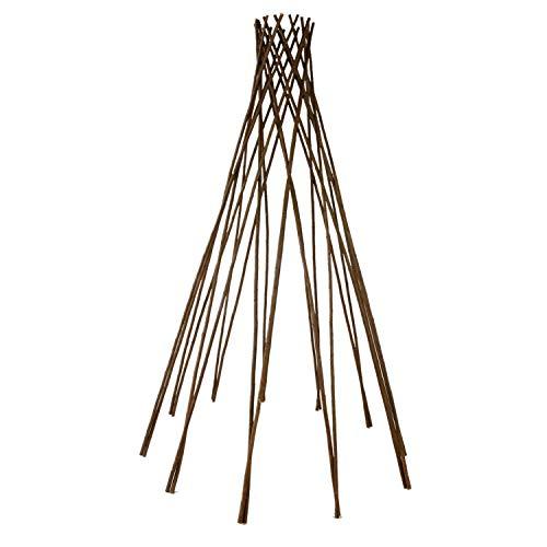 Roomando Rankhilfe, Rankgitter, Rankleiter Kegel Höhe 120 cm aus natürlicher Weide (Rankhilfe Kegel M 120 cm)