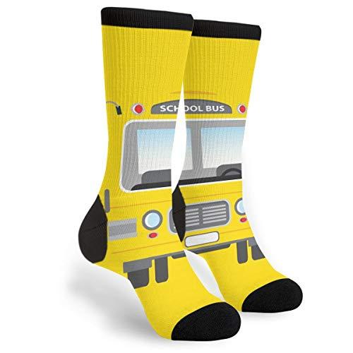 NGFF A-School Bus Men Women Funny Novelty Crew Tube Socks Gift
