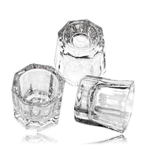 5 pcs Nail Art Acrylic Liquid Powder Dappen Dish Glass Crystal Cup Glassware Tools