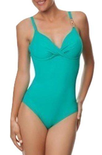 Simone Pérèle - Disfraz de playa entero, modelo Gold con aro verde agua verde agua 75C
