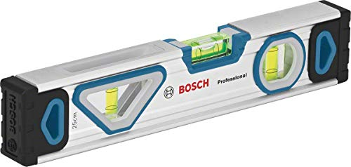Bosch Professional Wasserwaage 25 cm mit Magnet System (rundum ablesbar, Aluminium-Gehäuse, robuste Endkappen)