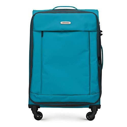 WITTCHEN Koffer – Großer | Textil, Material: Polyester | hochwertiger und Stabiler | Türkis | 91 L | 76x47x31 cm