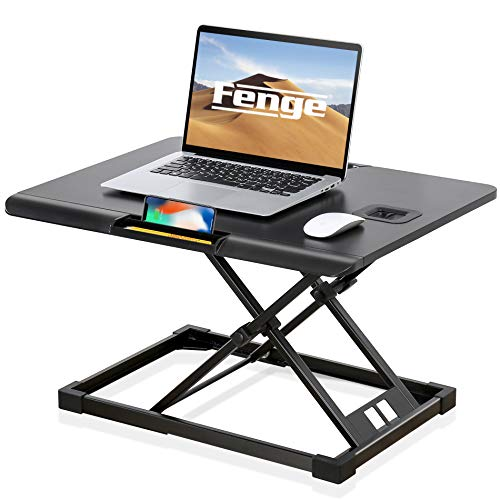 FENGE Standing Desk Converter Sit to Stand Stand Up Desk Tabletop Laptop Stand SD108003MB