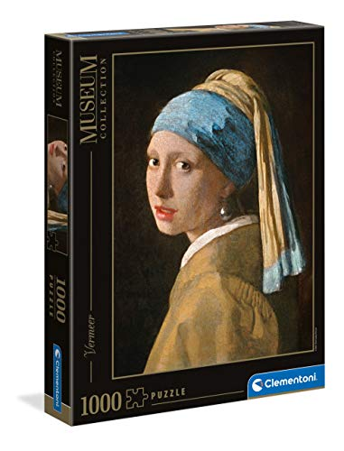 Clementoni 39614 Vermeer – Das Mädchen mit dem Perlenohrring – Puzzle 1000 Teile, Museum Collection, Geschicklichkeitsspiel für die ganze Familie, Erwachsenenpuzzle ab 14 Jahren