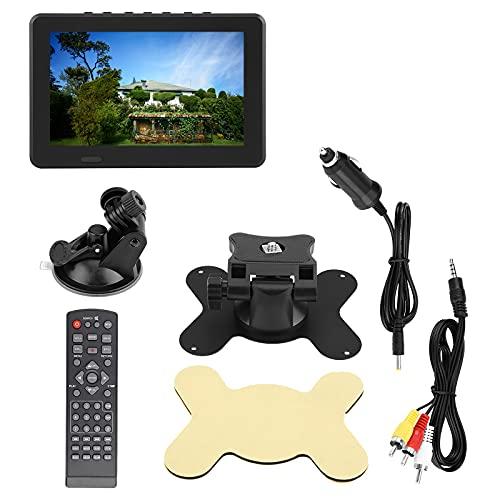 Salangae - TV portátil LCD de 7 pulgadas, color de alta resolución, 800 x 480, TV digital DVB-T de alta resolución TV analógica recargable 1500 mAh, apto para camping familiar al aire libre