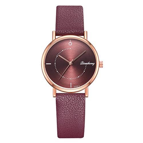 TWISFER Neue Uhr Damen Casual Quarz Analog Uhr Armbanduhr Leder Band Mode Elegant Beiläufig Kleid Uhr Schlank Einfachheit Geschäft
