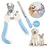 *Vanplay *Cortauñas Gos i Gat amb Protector, Bloqueig de Seguretat i Lima d'Ungles Gratis per a Mascota Gran per a Mascotes Mitjanes/Petites