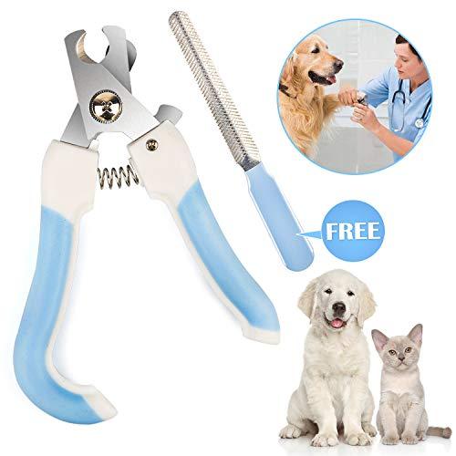 Vanplay Krallenschere für Hunde, Katzenkrallen Schere mit Sicherheitsverschluss und Kostenlos Krallenfeile für Kleine und Mittlere Haustiere