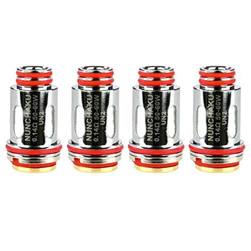 Uwell UN2 Meshed-H Coils (0,14 Ohm), SS316L DL Verdampferköpfe für e-Zigarette, 4 Stück