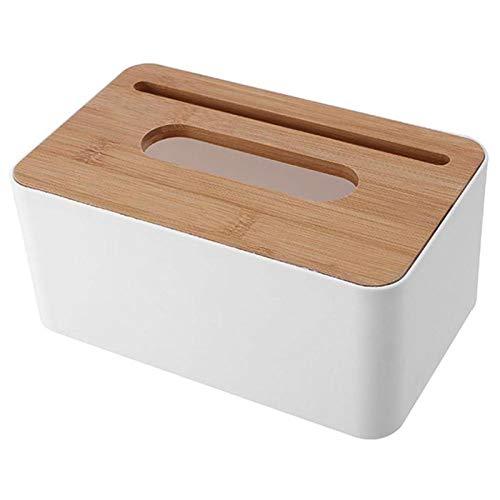 Kunststoffgewebebox Modern Holzbezug Papier Home Auto Servietten Halter Koffer(B)