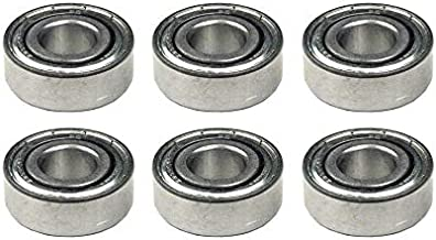 "Nessagro 6 Ball Bearings, Spindle, Deck, for John Deere Tractors, 3/4"" ID, AS JD9296, 2RS .#GH45843 3468-T34562FD147773"