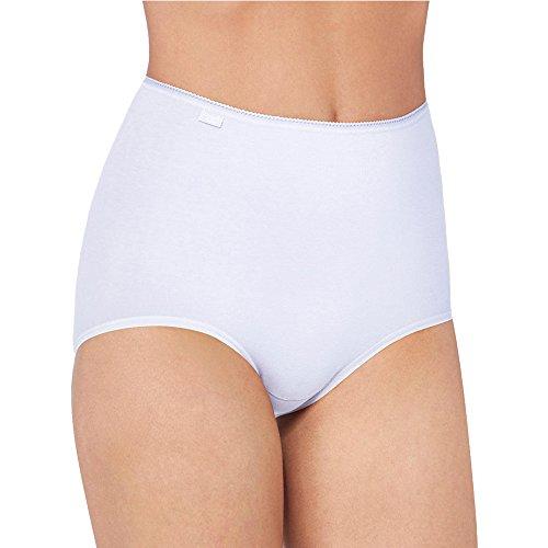 6er Pack Sloggi Damen Maxi Slip | Taillenslip - Serie 24/7 Cotton 2+1 - Farbe Schwarz - Größe 42