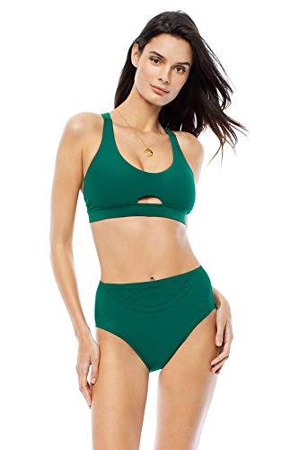 EBW Women's Collection X-Back Cutout Bralette Bikini Top Tide L