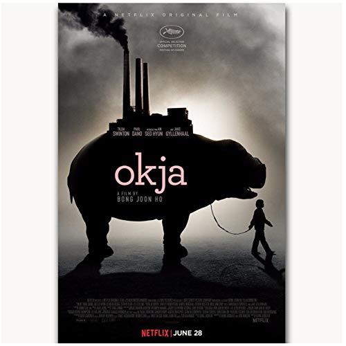 chtshjdtb Nueva película de 2017 Okja Bong Joon Ho Tilda Wall Art Poster lienzo pintura decoración de la pared del hogar -20X28 pulgadas sin marco 1 piezas