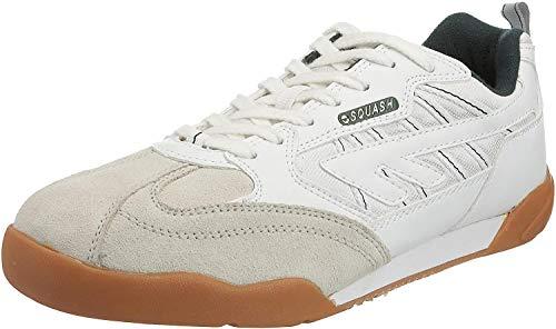 Hi-Tec Herren Squash-Schuhe / Turnschuhe, abriebfeste Sohle (43,5 EUR/9,5 UK) (Weiß)
