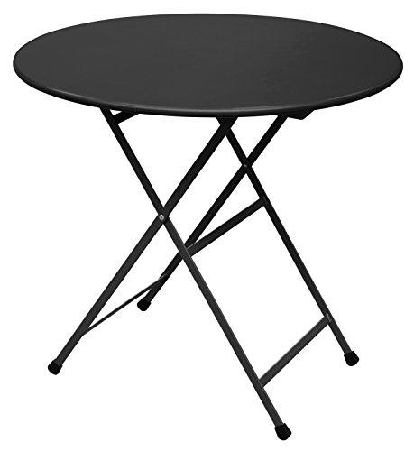 Emu Arc en Ciel Ronde Table Pliante Ø cm. 80 Couleur Noir Code 24