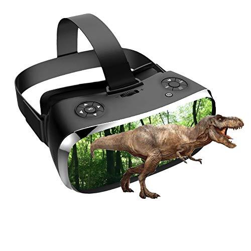 Onefire Gafas de Realidad Virtual Inteligente Todo en uno, Gafas Independientes de Hardware 3D VR para PS4 / Xbox One/PC etc, S900 3G RAM 16G ROM, Pantalla 2K, Nibiru Android 5.1,Negro