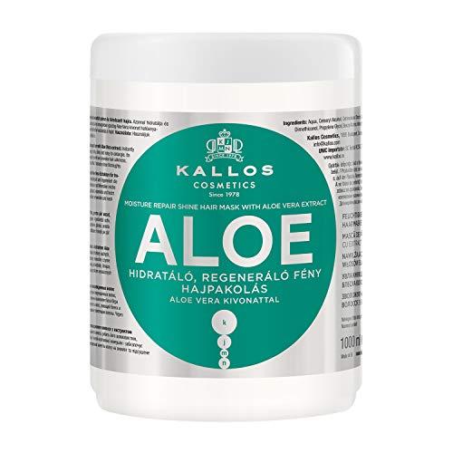Kallos KJMN Aloe Vera Feuchtigkeitsspendende, Aufbauende Haarmaske, 1000 ml