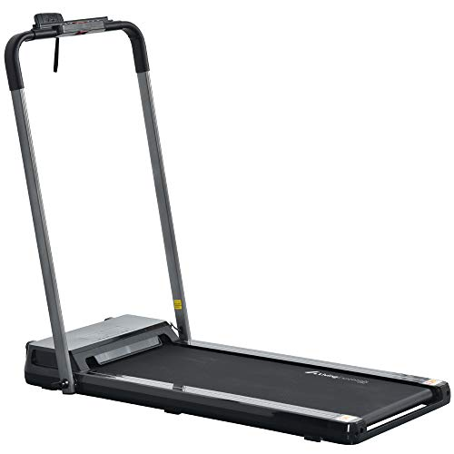 LINKLIFE 2 in 1 Folding Treadmill for Home Portable Electric Treadmill Running Exercise Machine Compact Treadmill Foldable for Home Gym Fitness Workout Jogging Walking, No Installation Required