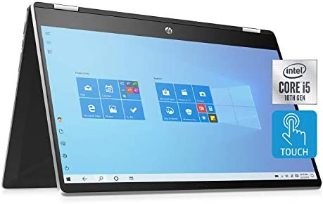 HP Pavilion x360 15 6 HD 10th Gen Intel Core i5 10210U Touch Screen Camera Natural Silver 12GB product image