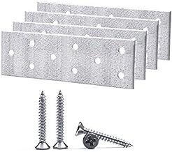 (Pack van 4 stuks) Schroeven Inbegrepen Staal Flat Mending Connector Joining Plate 40 x 120 x 2 mm (4, met schroeven)