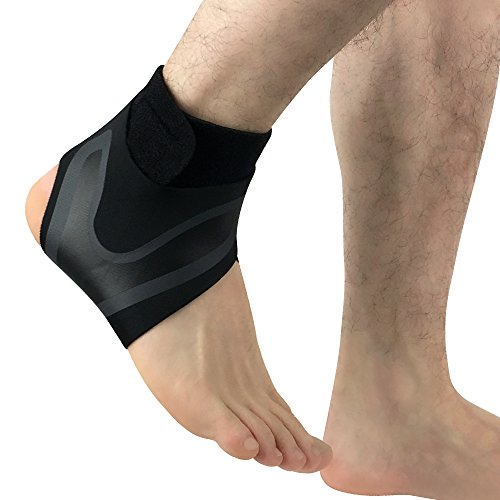 Adjustable Ankle Support Brace Foot Sprains Injury Pain Wrap Guard Protector